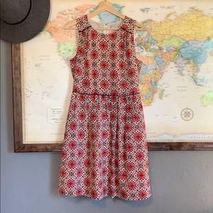 JCrew dress classic shape, fun pattern.
